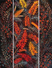 panels of orange grevillea flowers