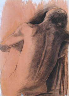 Christine Eyres, male nude showing anatomy of spine and back muscles