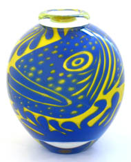 Ola Hoglund, blown glass vase, 'Reef'