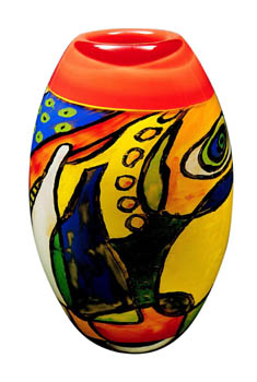 'Painted' glass vase shape