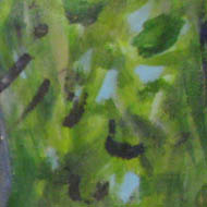 foliage - various greens, paint strokes showing