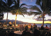 Food and wine event under the stars