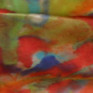 reds and browns abstract landscape - dyes on silk