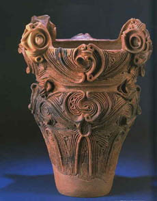 Carved Jomon vase