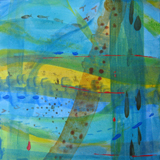 movement of fish, turquoise water, yellow sand