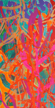 Coral, Great Barrier Reef detail - acrylic on canvas