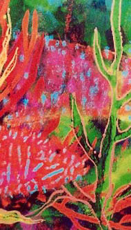 Detail from 'Corals' painting
