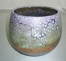 Small crawling glaze pot