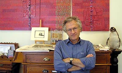 Leon Pericles in his studio