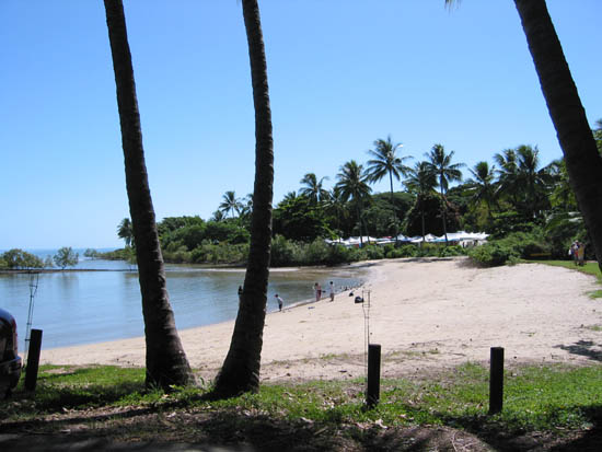Port Douglas beach on the inlet across from the old sugar wharf
