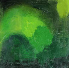 Marie Simberg-Hoglund, greens, abstract acrylic on canvas