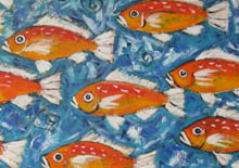 Terry Johnson - red fish swim - detail