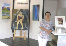 Yoshiko in Port Douglas Artists'studio/gallery