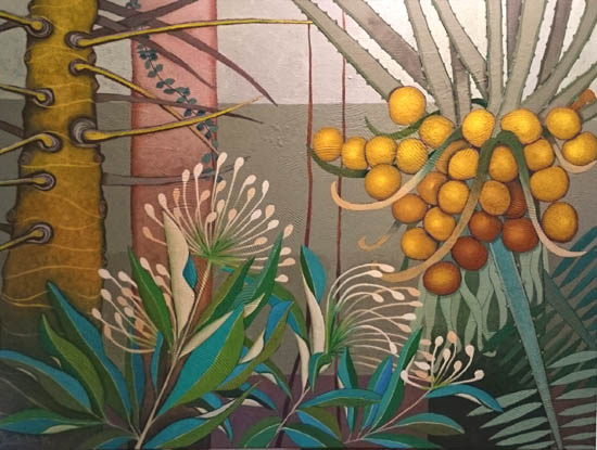 Rainforest painting by Yoshiko Kirby