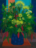 Tania Heben still life - vase of yellow flowers