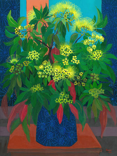 Still Life - Golden Penda flowers in a vase