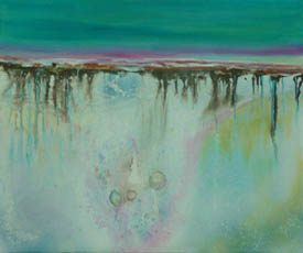 Low Tide Reflections 1, mixed media on canvas