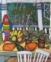 'Claire's Garden' - still life with tropical fruit