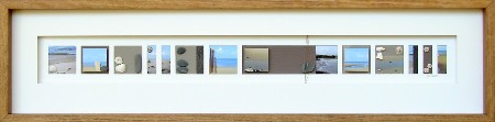 'Yule POint' - tiny square snapshots of beach, ocean and shells, arranged in a long strip