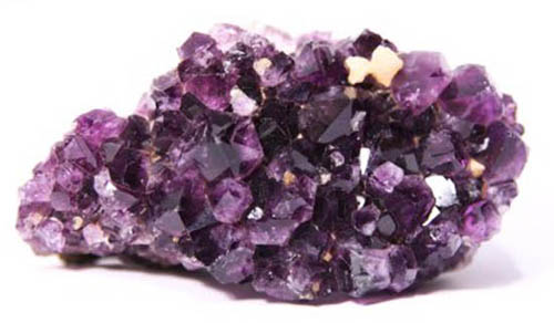 Deep purple and pale mauve amethyst crystals