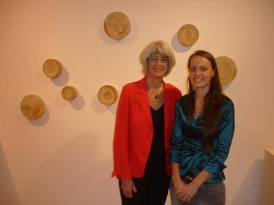 Rachel Platte - winner of Melting Pot Exhibition 2011 (pictured with Mayor Val Schier)