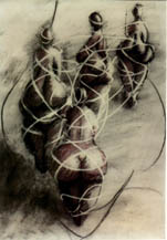 'Sisters' - women tied together with ribbons