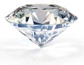 beautiful, clear, multi-faceted diamond, unset