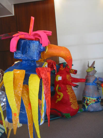 Kids' fantasy sculptures