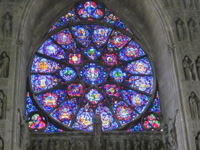 Reims Notre Dame Cathedral rose window