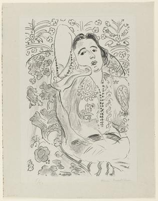 H. Matisse, Odalisque in red satin culottes, lithograph, 1925