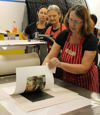 Laurel McKenzie at Inkmasters Print Workshop