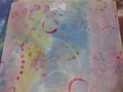 silk cotton - cool pinks and blues, red lines show movement