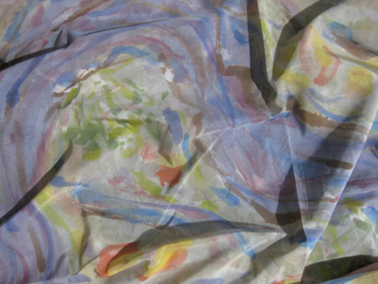 'During the Wet' silk/cotton, dyes, 5,000mm x 1140mm - $480