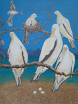 'Our Island Home 2' - triptych - oil on canvas