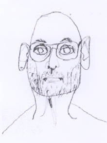 Jim Olsson, pencil self-portrait