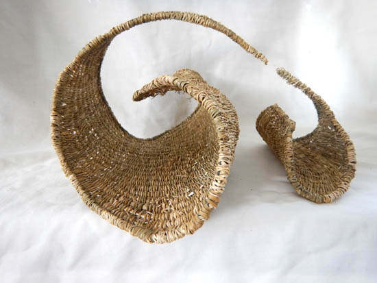 Rainforest fibre form by Joy Shand-Culley
