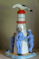Judy Richard's ceramic, 'Whose Island Is it?