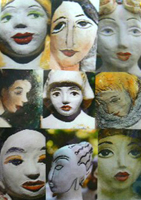 faces from Judy's artists' women series