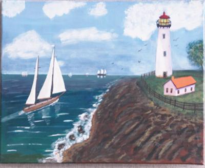 Ted Mueller S Lighthouse Paintings Impress