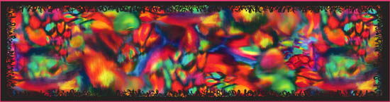 'Black Opal' - long silk scarf, brightly coloured in opal pattern