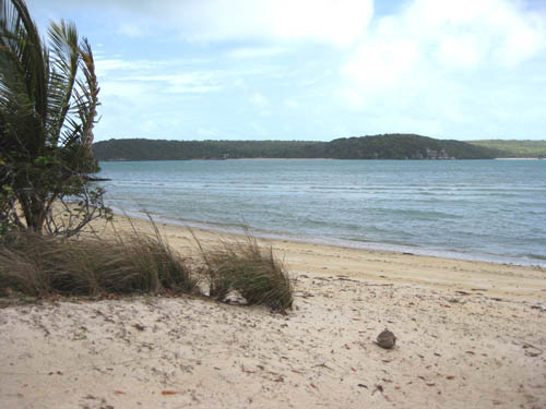 From the ruins of the settlement of Somerset looking across the channel towards the pearling farm on Albany Island