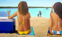'Island Day Out' oil on canvas