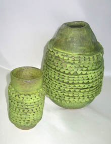 Two vase forms - Green Growth