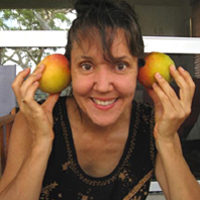 Anna with mangoes for ears