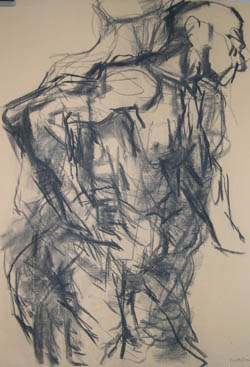 Charcoal figure - Life drawing