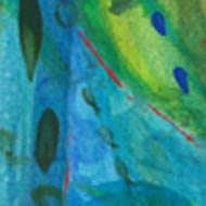 Ocean - abstract greeny turquoise shapes