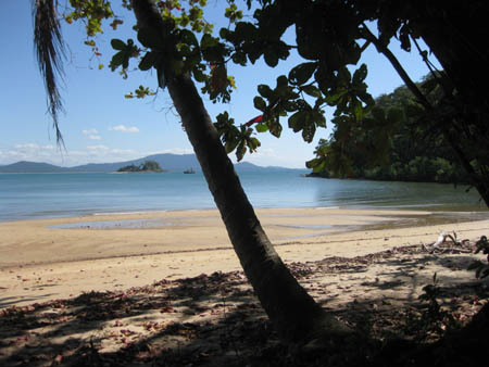Photo from Dunk Island beach across to tiny Purtaboi Island.