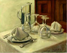 'Dinner Table', oil painting - still life