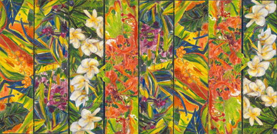Tropical Flowers sarong wrap 2