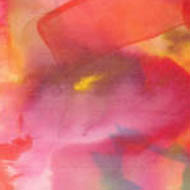 silk scarf - blended pinks, reds and oranges with a touch of yellow